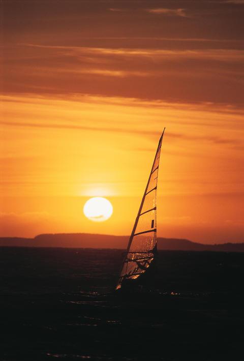 Sonnen-Surfen vor Stavanger
