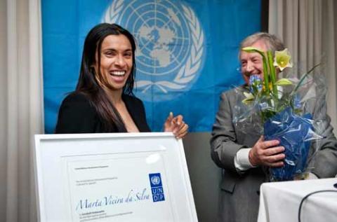 Marta ny goodwill-ambassadör för FN:s utvecklingsprogram UNDP