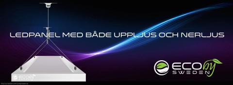 Ergonomiska LED-paneler med 70%-nerljus och 30%-uppljus