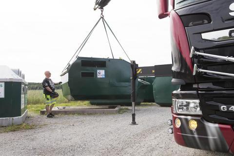 Återvinningsstation tas bort i Östersund