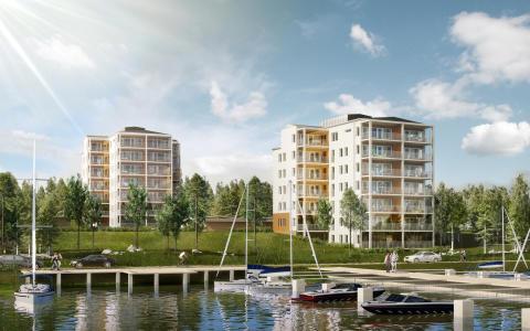 Idag tas första spadtaget av brf Lillängshamnen på Hammarö