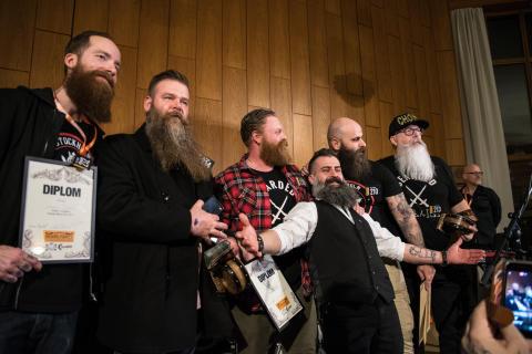 Skäggtävling på Spånga Beard Party 2017