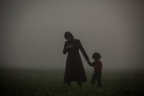 Människor på flykt i Idomeni