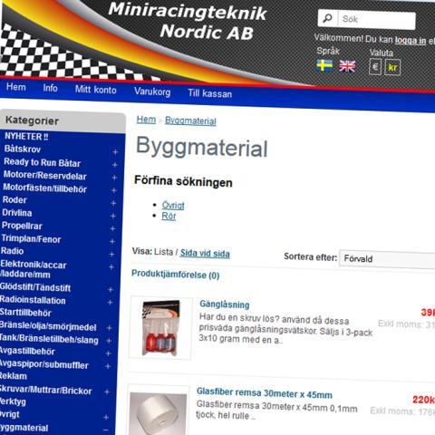 Miniracingteknik lanserar en ny e-handelslösning