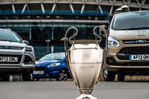 Ford feirer at de har vært samarbeidspartner med Champions League i 21 år