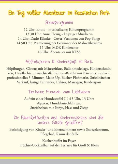 5. September: Tag der offenen Tür (Programm)