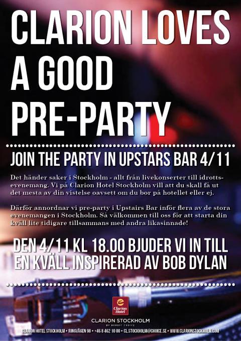 Bob Dylan på Clarion Hotel Stockholm