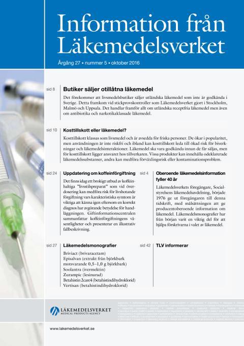 Information från Läkemedelsverket nr 5 2016