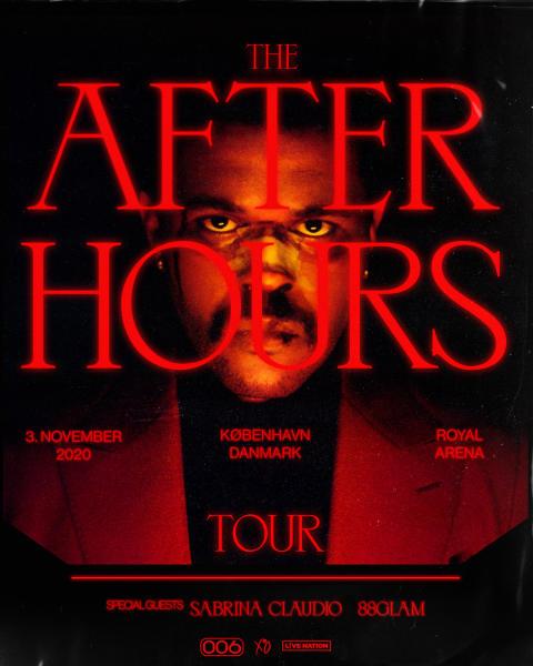 """The Weeknd tilføjer til Danmark til """"The After Hours Touren"""""""