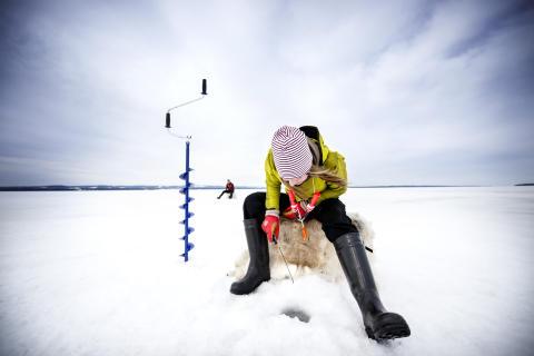 Ice fishing, Lake Storsjön