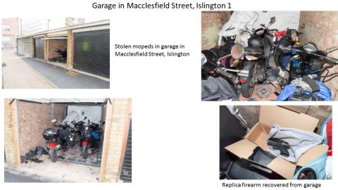 Contents of garage in Macclesfield Street