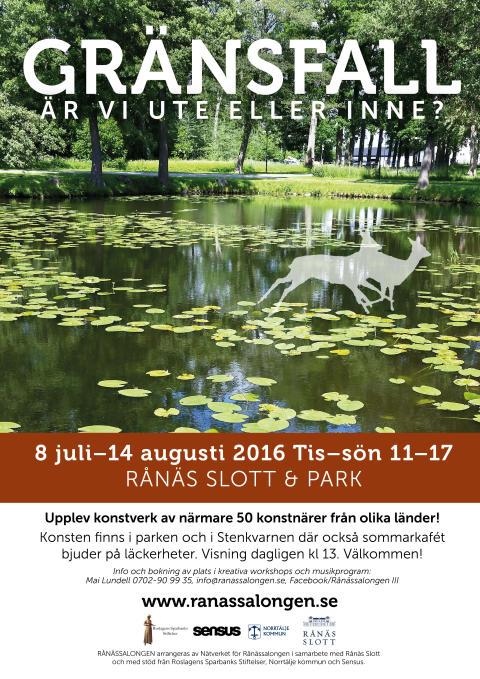 """Sommarens konstutställning """"Gränsfall"""" - på Rånäs Slott"""