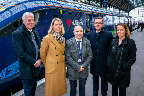 First Hitachi-built Paragon train arrives in Hull