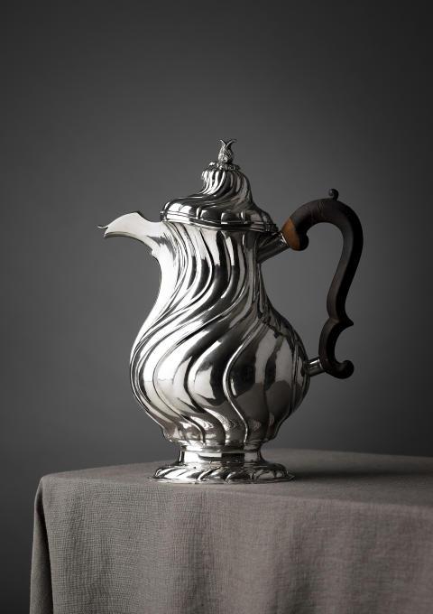 Johan Wennerwall, Göteborg 1756, kaffekanna, silver