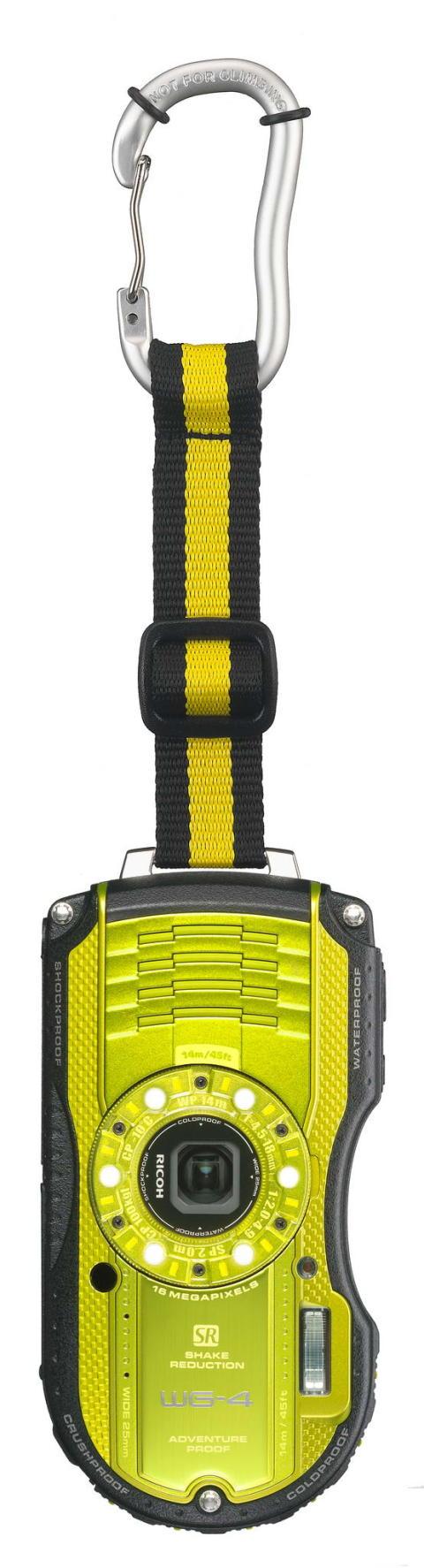 Ricoh WG-4 gul med karbinhake