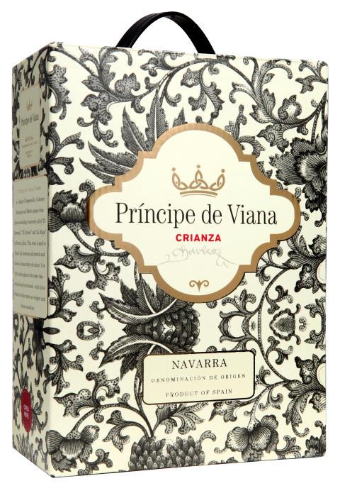 Rött, modernt från Navarra i Spanien - Príncipe de Viana Crianza!