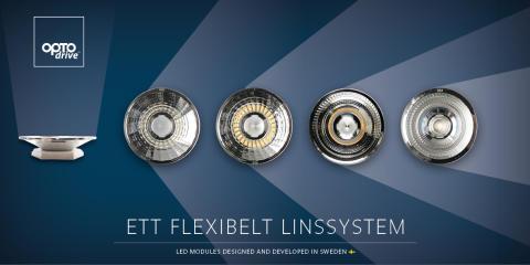 Ny LED-modul med flexibelt linssystem