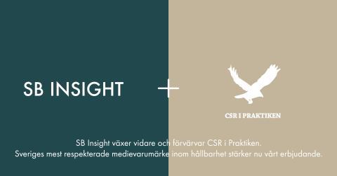 SB Insight växer vidare och  förvärvar analysbrevet CSR i Praktiken