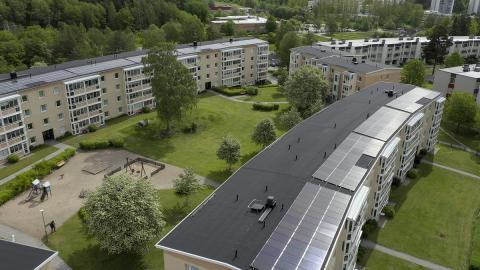 Riksbyggens Brf Nyköpingshus nr 15, solpaneler