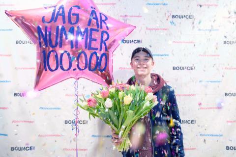 Bounce firar sina första 100 000 besökare!