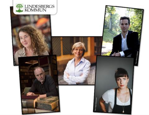 Årets gäster på Bokens Dag i Lindesberg