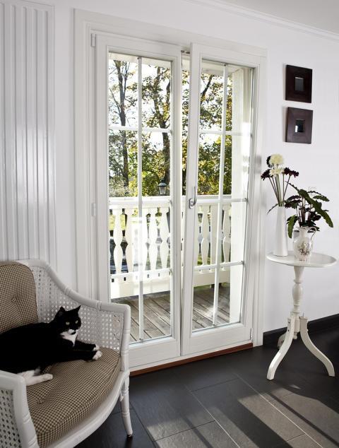 Ekstrands inåtgående fönster - fönsterdörr