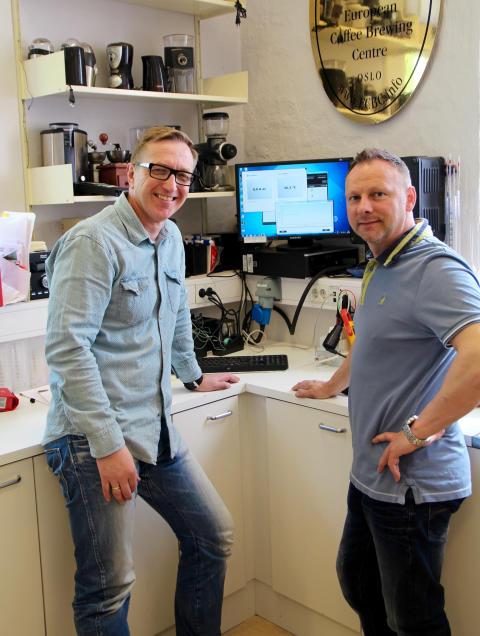 Ole Sønstebø (v) og Stig Hiller (h)