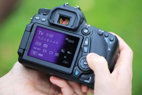 Canon EOS 70D skärm