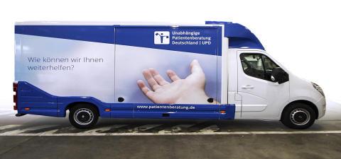Beratungsmobil der Unabhängigen Patientenberatung kommt am 21. Juni nach Cuxhaven.