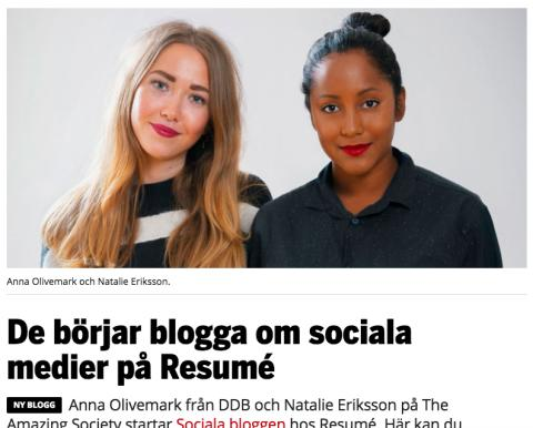 Natalie från The Amazing Society bloggar på Resume