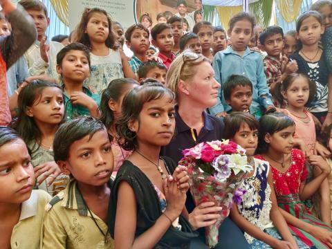 Sara Alsén besöker Dehli i arbetet med programmet Clean Air for Children