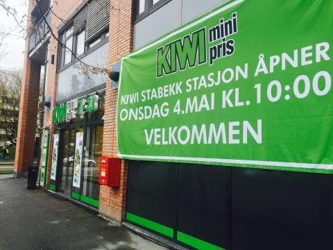 KIWI Stabekk stasjon ligger i sentrum av Stabekk og vil ha åpent 7-23 seks dager i uken