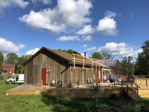 Kretsloppshuset på Ödevata gårdshotell färdigmonterat