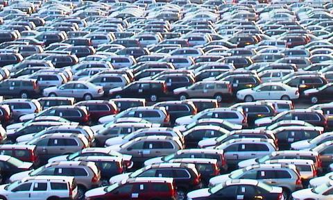 Bilar i Göteborgs Hamn