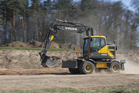 Volvo EWR150E grävmaskin - lastarmsfjädring (Boom Suspension System - BSS)