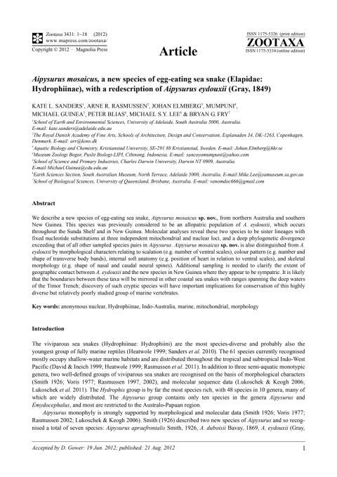 Ladda hem den vetenskapliga artikeln som publicerats i tidskriften Zootaxa.