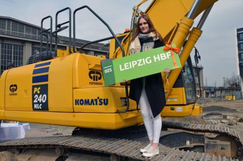 Investoren setzen den Grundstein für eine neue Infrastruktur in Leipzig: Busterminal mit Parkhaus