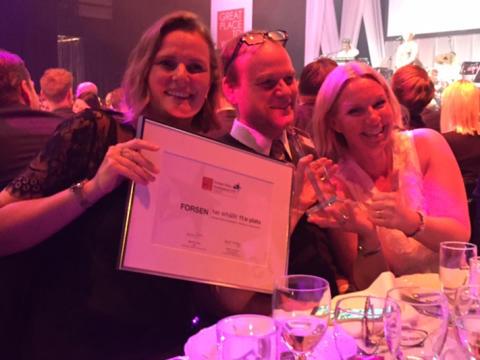 """Forsen vinner pris för sitt employer branding-arbete på GPTW-galan: """"Sharing the Pride – Årets stoltaste"""""""