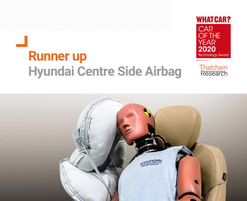 What Car? Technology Award 2020 runner up - Hyundai Centre Side Airbag
