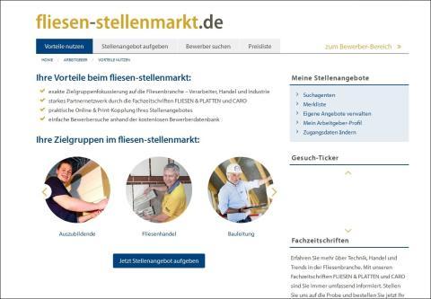 fliesen-stellenmarkt.de: Neue Jobbörse für die Fliesenbranche