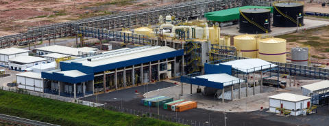 Aerial of Imperatriz Chemical Island at Suzano pulp mill