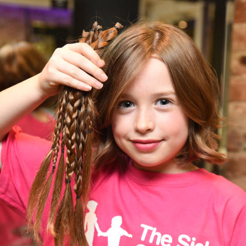 Lillia's charity haircut in memory of Mollie Mae