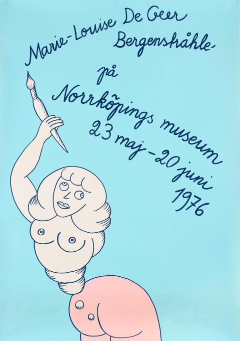 Marie-Louise Ekman, utställningsaffisch. Utrop: 1500 SEK
