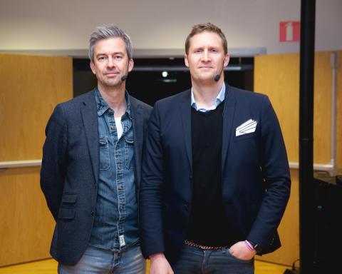 Ulf Skagerström och Karl Andersson, två av Matsmarts grundare.