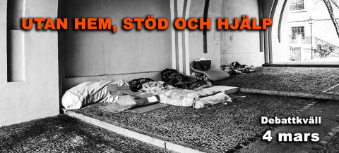 Påminnelse om debattkväll: Utan hem, stöd och hjälp - hemlösas utsatthet för brott