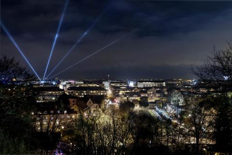 Snart börjar ljusfestivalen Allt ljus på Uppsala