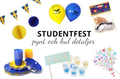 Pynt och dekoration till studentfesten!