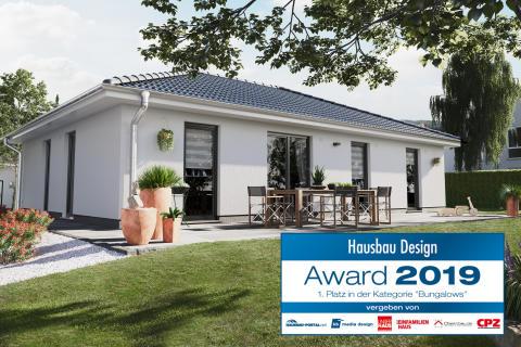 Der Bungalow 110 ist Gewinner des Hausbau Design Awards 2019