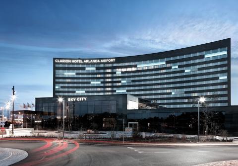 Clarion Hotel Arlanda Airport vinner pris som Clarions bästa hotell