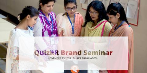 Save the Date for QuizRR Brand Seminar Nov 13 2018 - Dhaka Bangladesh